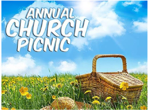 Annual Church Picnic: INDOORS! Sunday, June 16, 2019, 10:30 am