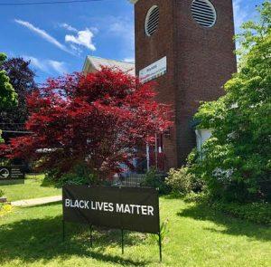 BLM Banner at MUUC