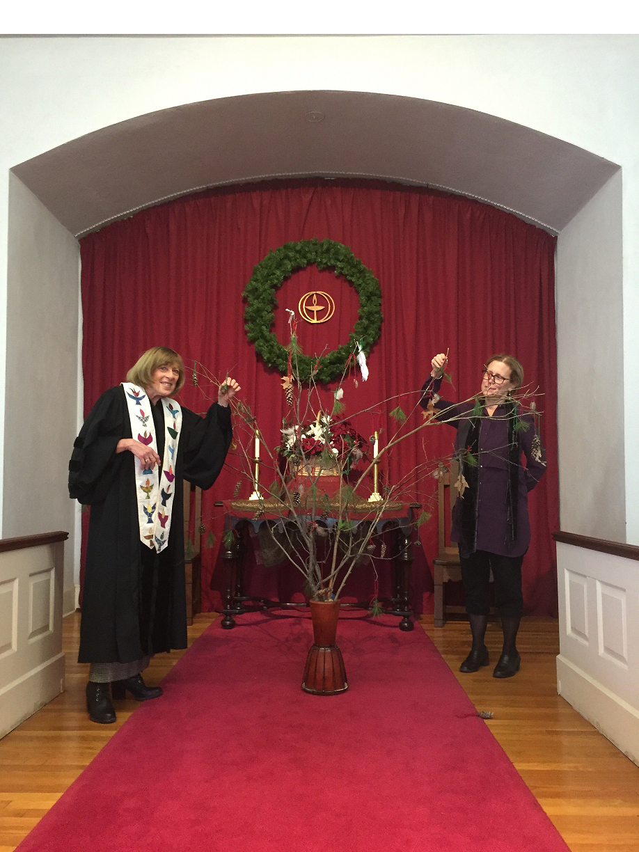 Melrose UU Church Creates Solstice Prayer Tree