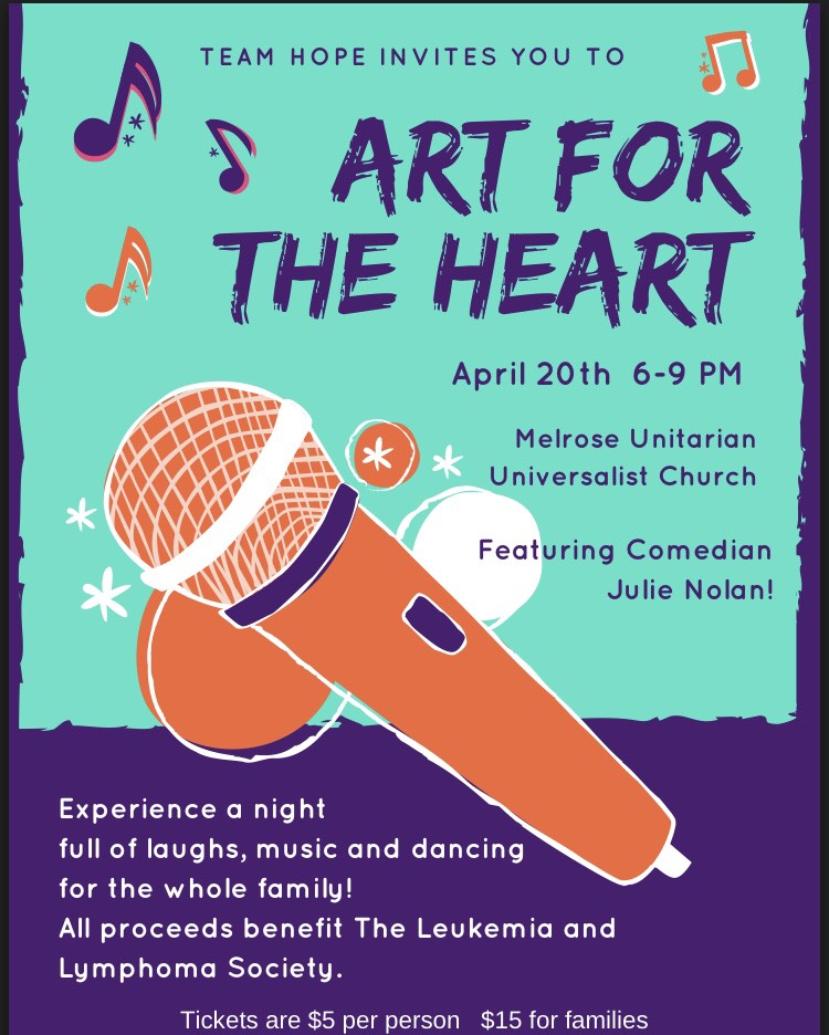 """Art For The Heart"" Benefit for The Leukemia & Lymphoma Society, Friday April 20, 6-9pm"